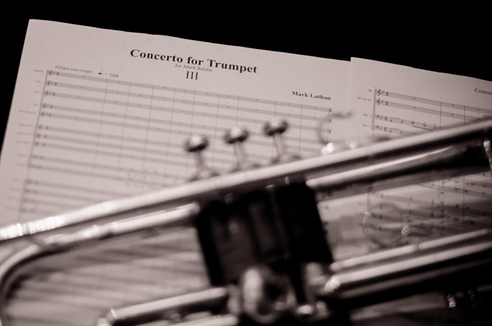 trumpet and score picture